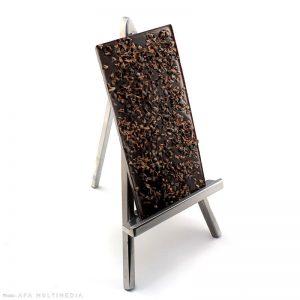 Noir : Tablette aux éclats de fèves